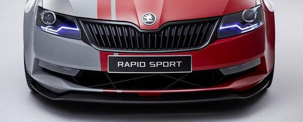 Skoda a publicat noi imagini ale modelului Rapid Sport