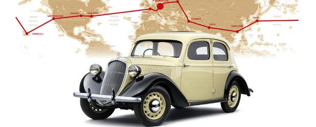 Skoda celebreaza 80 de ani de cand doi cehi au facut inconjurul lumii la volanul modelului Rapid