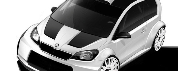 Skoda Citigo Rally Car vine in curand