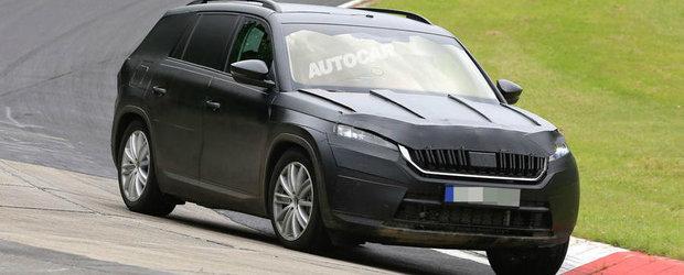 Skoda continua testele in compania noului Kodiaq. SUV-ul ceh a dat recent buzna la Nurburgring