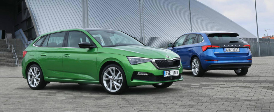 Skoda e de parere ca noua Scala arata mai bine decat VW Golf si publica aceste imagini ca sa-si sustina teoria