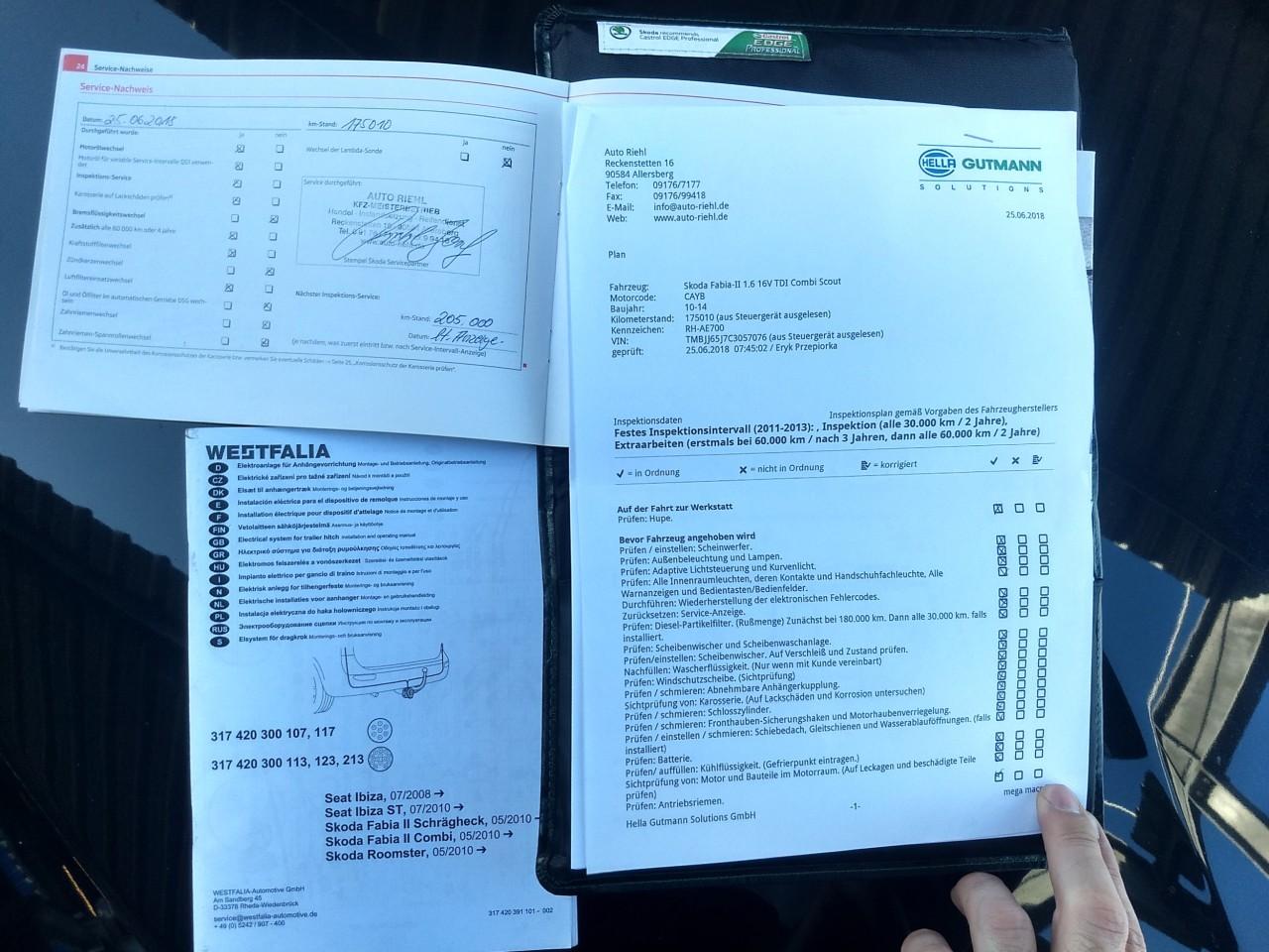 Skoda Fabia 1.6 TDI EURO5 Navi Klima Pilot 2012