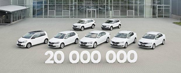 Skoda la aniversare: constructorul ceh a produs masina cu numarul 20 de milioane