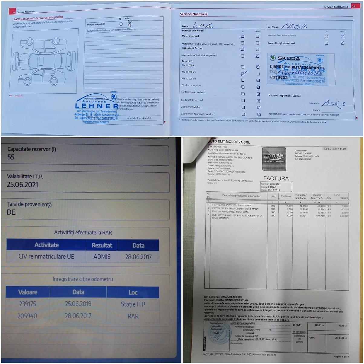 Skoda Octavia II full options km reali carte service fab. 2011