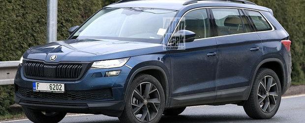 Skoda pregateste un facelift pentru cel mai mare SUV pe care il vinde acum. Noul model, surprins complet necamuflat in teste