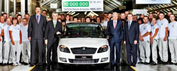 SKODA produce automobilul cu numarul zece milioane din Mlada Boleslav