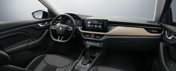 Skoda publica primele imagini din interiorul noii Scala, masina care va concura cu VW Golf