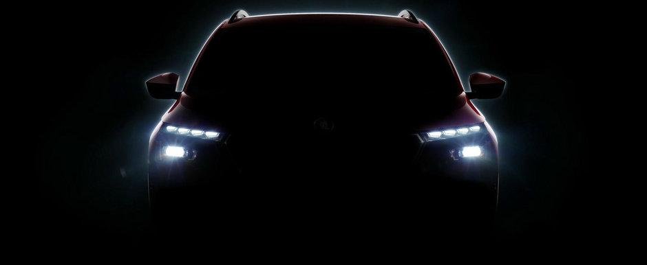 SKODA se pregateste de lansarea unui nou SUV. Prima imagine teaser tocmai a fost publicata pe internet
