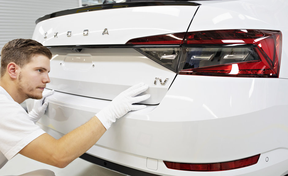 Skoda Superb iV intra in productie