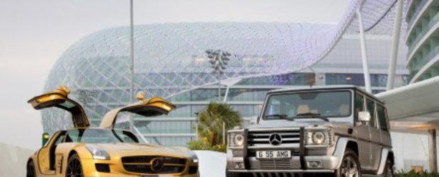 SLS AMG in Desert Gold & G55 AMG Edition 79 - Duo pentru Dubai Motor Show