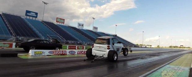 Smart-ul asta cu motor V8 face sfertul de mila in doar 9 secunde