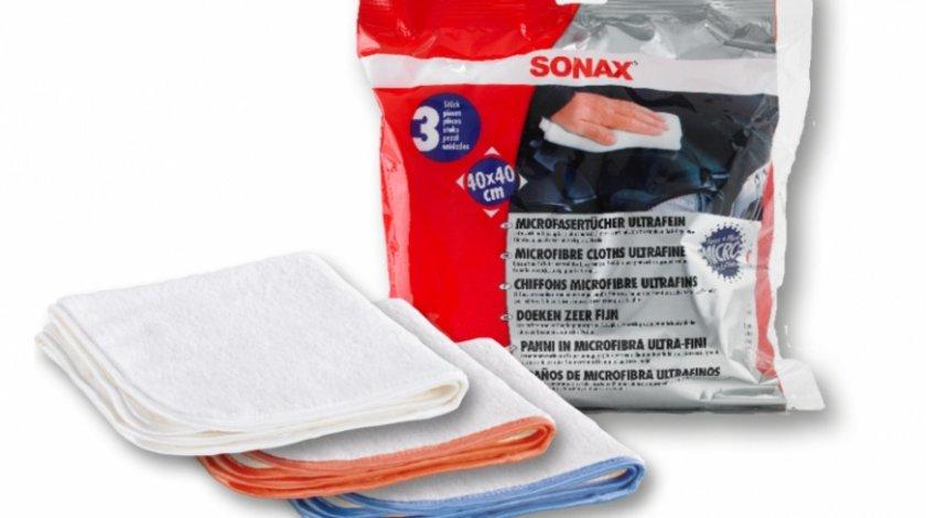 Sonax Lavete Microfibre Ultrafina 3 Buc 40X40CM 450700