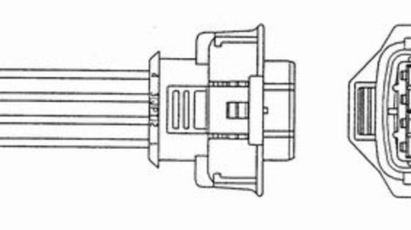 Sonda lambda (numar de fire 4, 741mm) incalzit OPEL ASTRA G, ASTRA H, ASTRA H GTC, CORSA C, MERIVA A, OMEGA B, SIGNUM, TIGRA, VECTRA B, VECTRA C, VECTRA C GTS, ZAFIRA A 1.8 2.2 intre 1999-2015