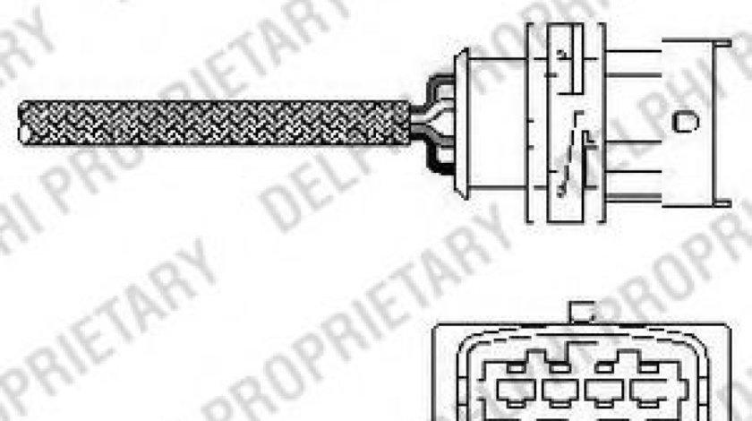Sonda Lambda OPEL ASTRA G Cupe (F07) (2000 - 2005) DELPHI ES10789-12B1 produs NOU