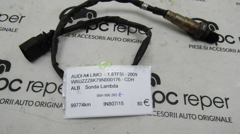 Sonda Lambda Originala Audi A4 8K cod 06H906262A - 1,8tfsi