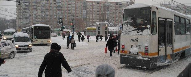 Sondaj: cel mai bun mijloc de deplasare in Bucuresti, atunci cand ninge