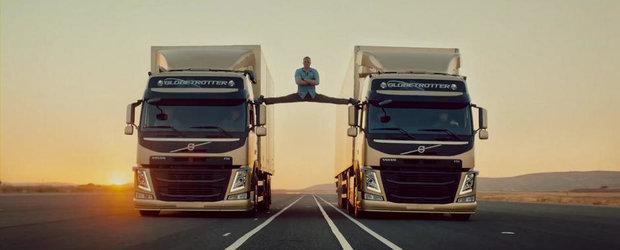 Spagatul lui Van Damme. Sau cum isi promoveaza Volvo noua gama de camioane