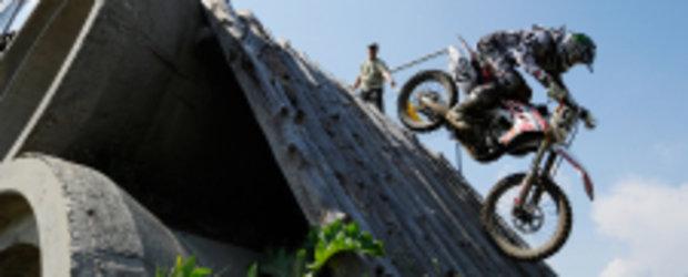 Spectacol in etapa endurocross de la Ciolpani