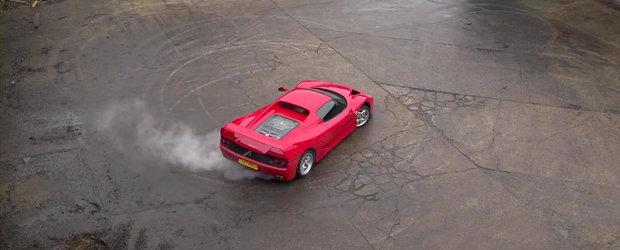 Spectacolul continua: Drifturi in slow-motion cu Ferrari F50