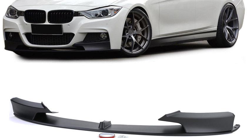 Spliter/ prelungire bara fata BMW seria 3 F30 F31 F35 M-Performance design negru mat