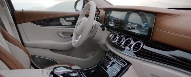 Spotul noului E-Class ne arata cateva dintre dotarile de top ale masinii germane
