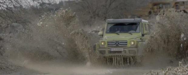 Spotul noului Mercedes G500 4x4² evidentiaza calitatile off-road ale modelului german
