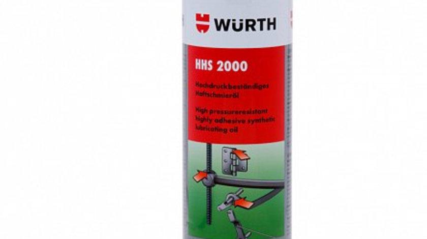 Spray vaselina aderenta cu inalta rezistenta la presiune Wurth HHS 2000, 500 ml cod intern: 893 106