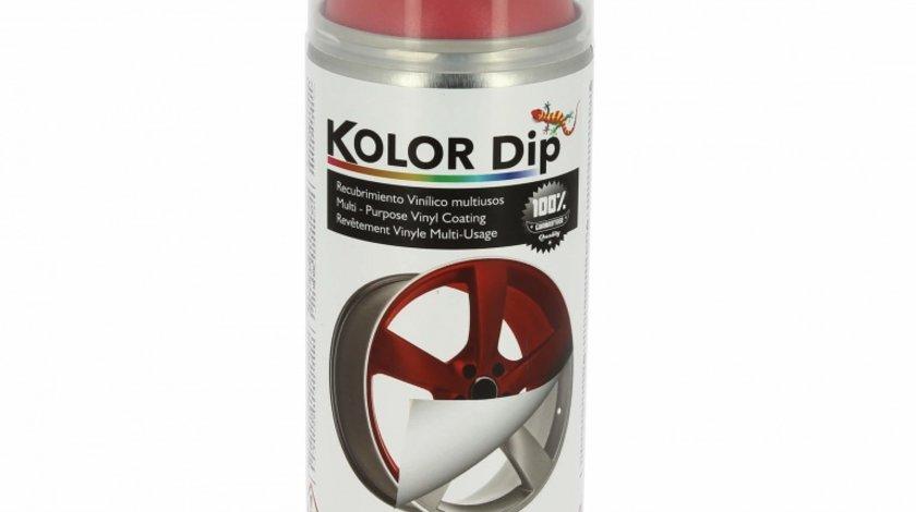 Spray vopsea cauciucata Kolor Dip Rosu Metalic 400ml