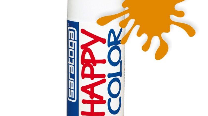 Spray vopsea Portocaliu HappyColor Acrilic, 400ml