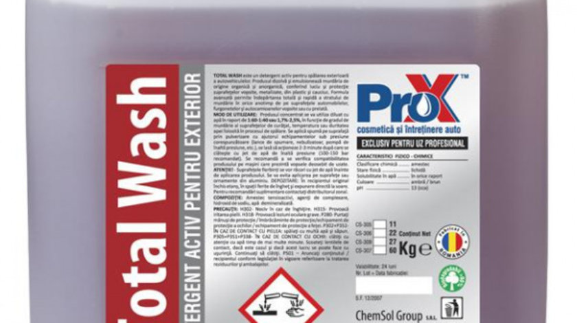 Spuma activa Total Wash, bidon 22kg cod intern: SAT02