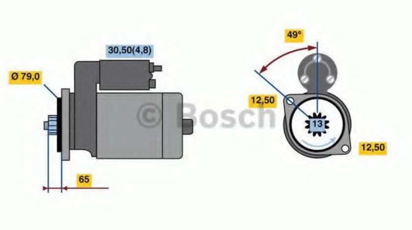 Starter AUDI A3 (8P1) (2003 - 2012) BOSCH 0 001 153 009 piesa NOUA