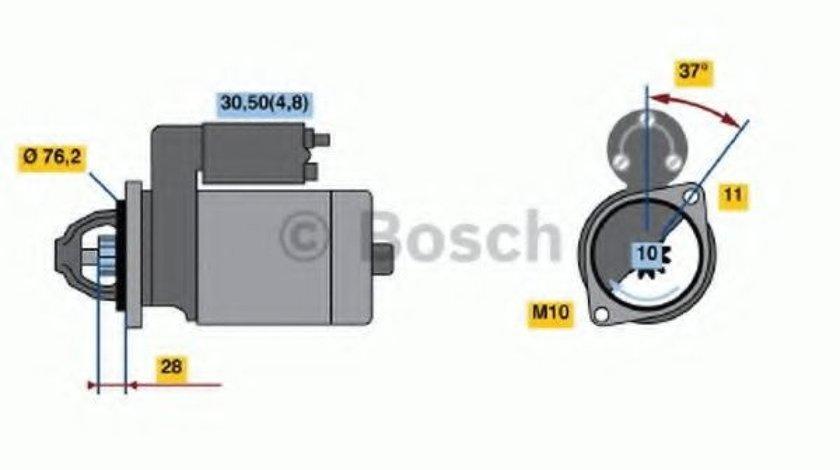 Starter AUDI A6 (4F2, C6) (2004 - 2011) BOSCH 0 986 022 450 - produs NOU
