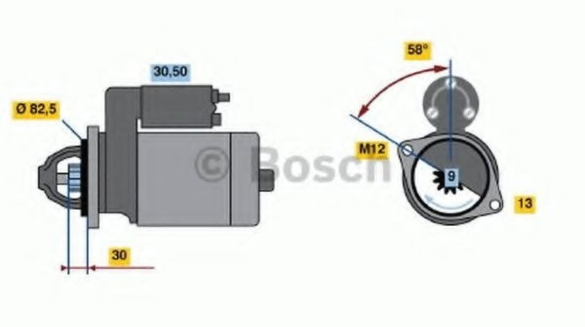 Starter AUDI A6 Avant (4B5, C5) (1997 - 2005) BOSCH 0 986 018 340 piesa NOUA