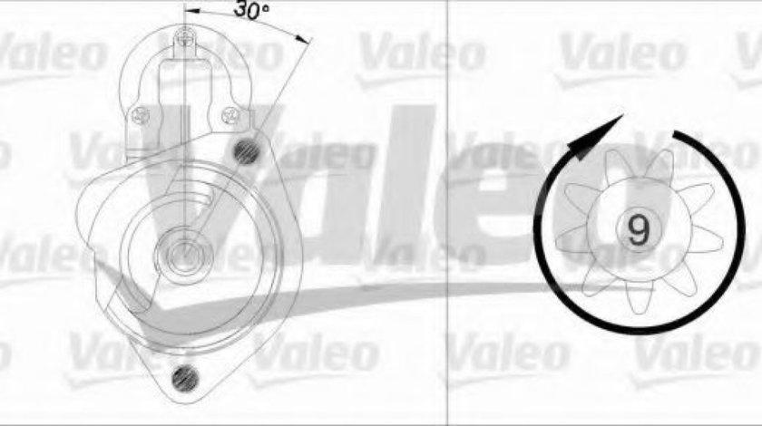 Starter AUDI A6 Avant (4B5, C5) (1997 - 2005) VALEO 455680 piesa NOUA