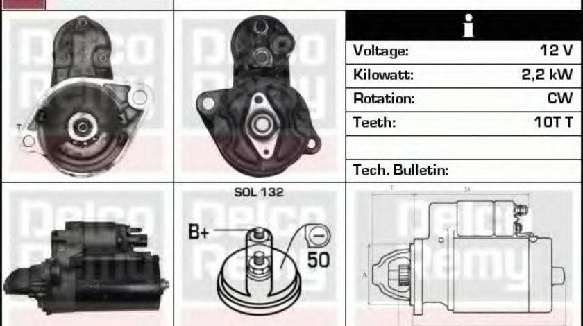 Starter AUDI A8 (4E) (2002 - 2010) DELCO REMY DRS0374 piesa NOUA