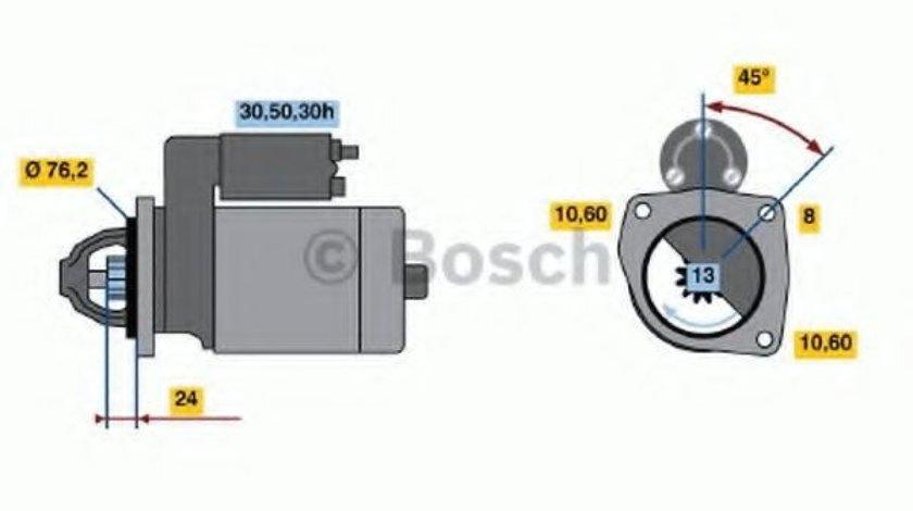 Starter BMW Seria 3 Compact (E36) (1994 - 2000) BOSCH 0 986 017 180 produs NOU