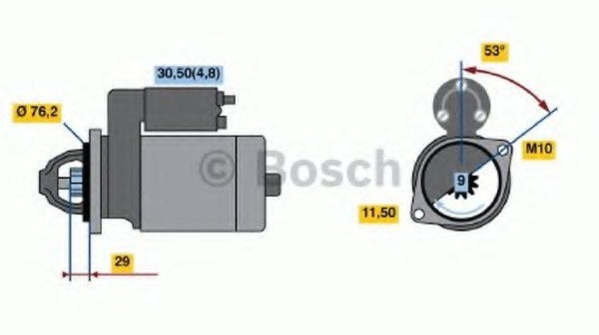 Starter BMW Seria 5 (E60) (2003 - 2010) BOSCH 0 986 021 500 - produs NOU