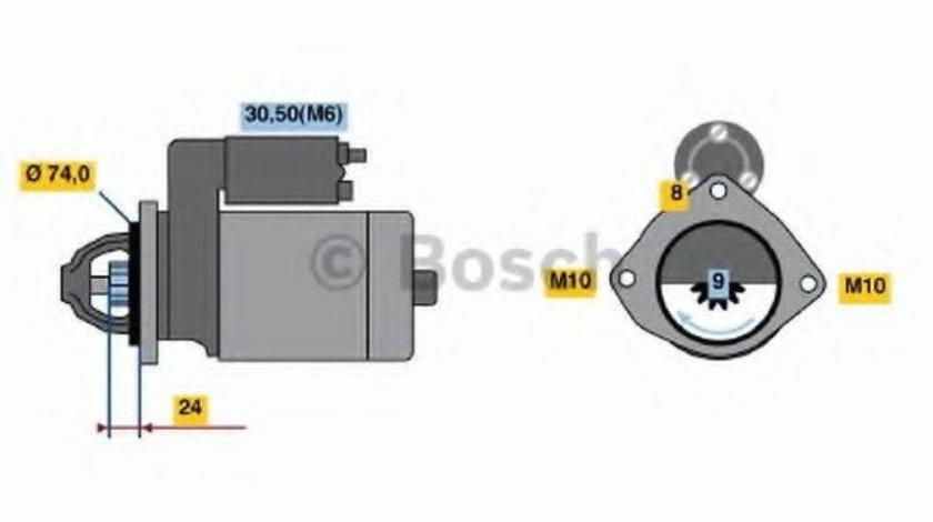 Starter BMW Seria 5 (E60) (2003 - 2010) BOSCH 0 986 021 230 - produs NOU