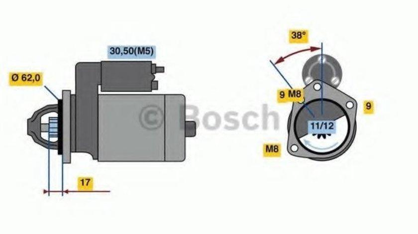 Starter CITROEN C4 II (B7) (2009 - 2016) BOSCH 0 986 022 790 produs NOU