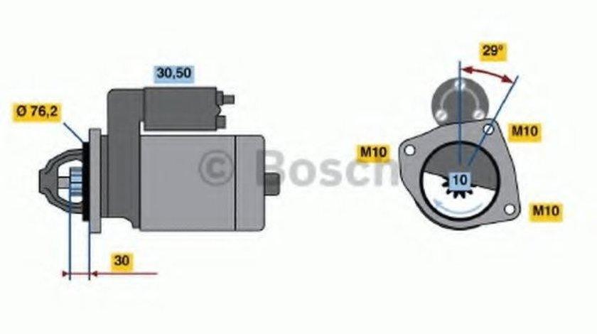 Starter FORD FOCUS II (DA) (2004 - 2012) BOSCH 0 986 017 060 produs NOU