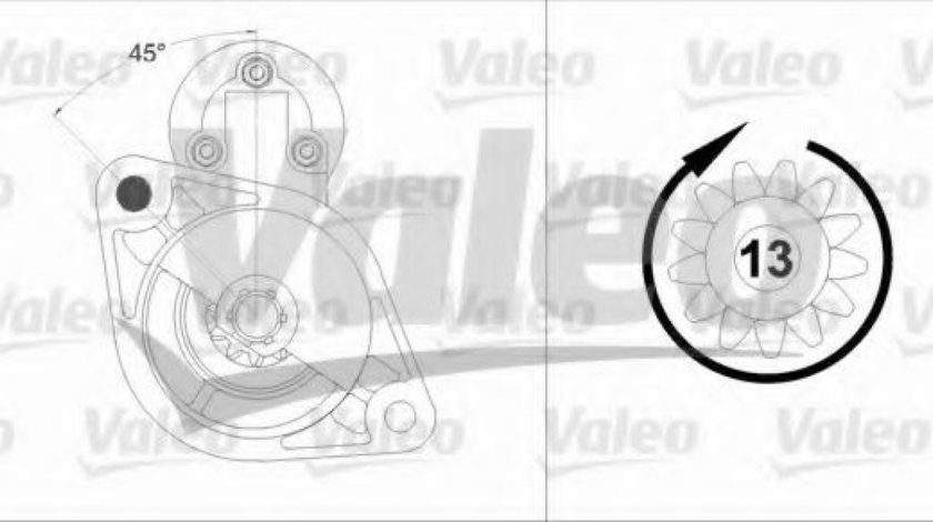 Starter HONDA CIVIC VII Hatchback (EU, EP, EV) (1999 - 2006) VALEO 458219 piesa NOUA