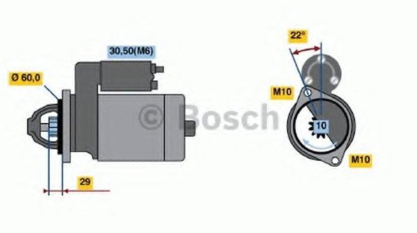 Starter MERCEDES M-CLASS (W164) (2005 - 2011) BOSCH 0 986 021 320 produs NOU