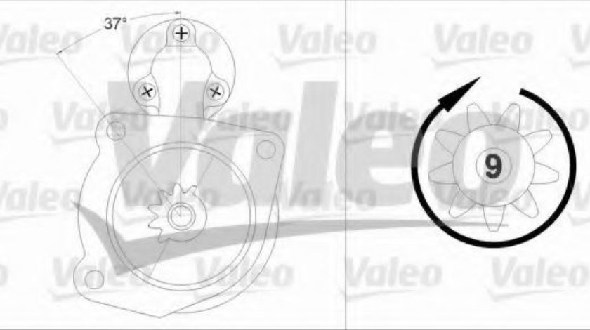 Starter OPEL ASTRA J (2009 - 2016) VALEO 458212 produs NOU