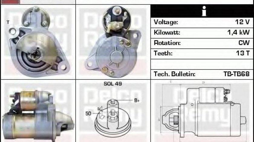 Starter OPEL CORSA C (F08, F68) (2000 - 2009) DELCO REMY DRS3679N produs NOU