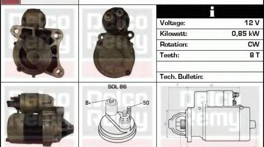 Starter RENAULT CLIO II (BB0/1/2, CB0/1/2) (1998 - 2005) DELCO REMY DRS3948 produs NOU