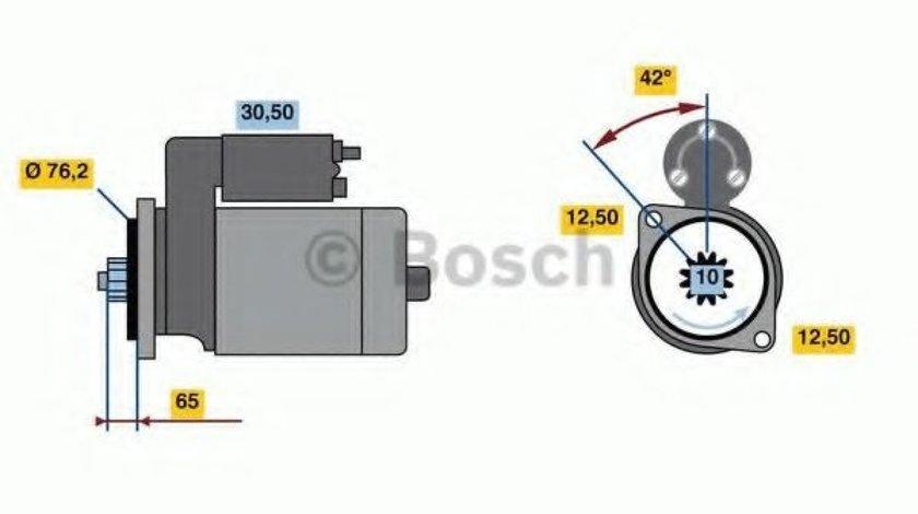 Starter SEAT LEON (1M1) (1999 - 2006) BOSCH 0 986 018 390 produs NOU