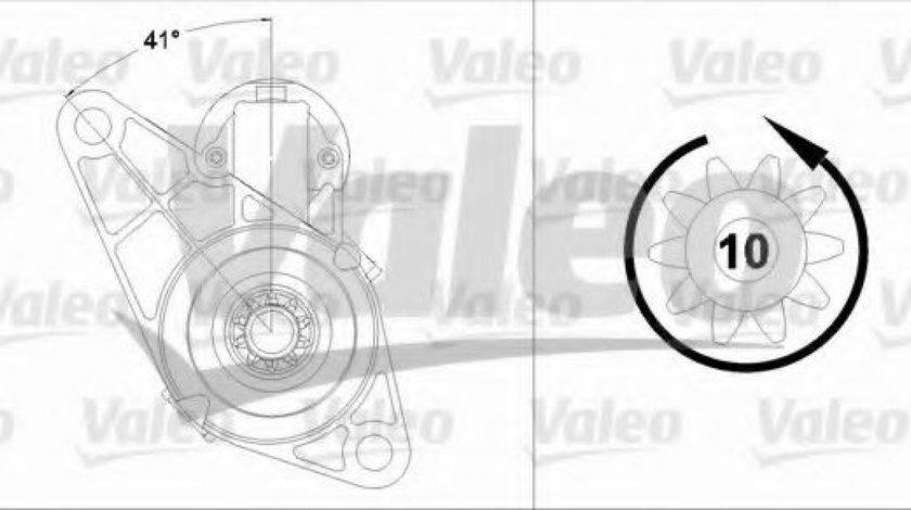 Starter SEAT LEON (1P1) (2005 - 2012) VALEO 458214 produs NOU