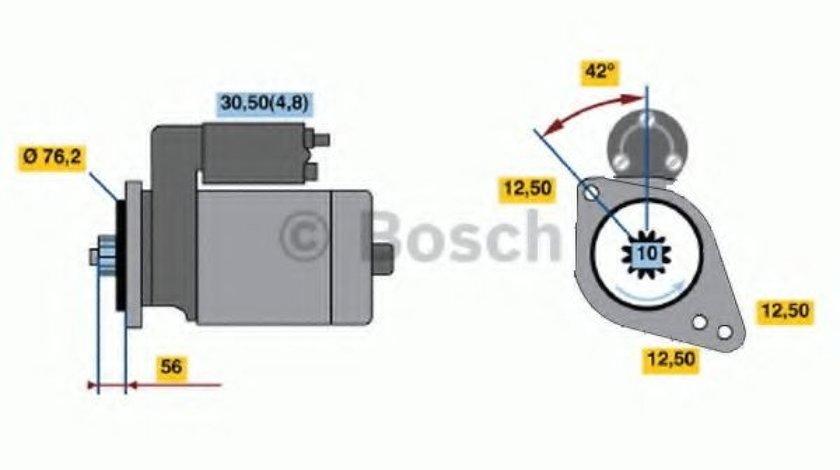 Starter SKODA OCTAVIA II Combi (1Z5) (2004 - 2013) BOSCH 0 986 020 250 produs NOU