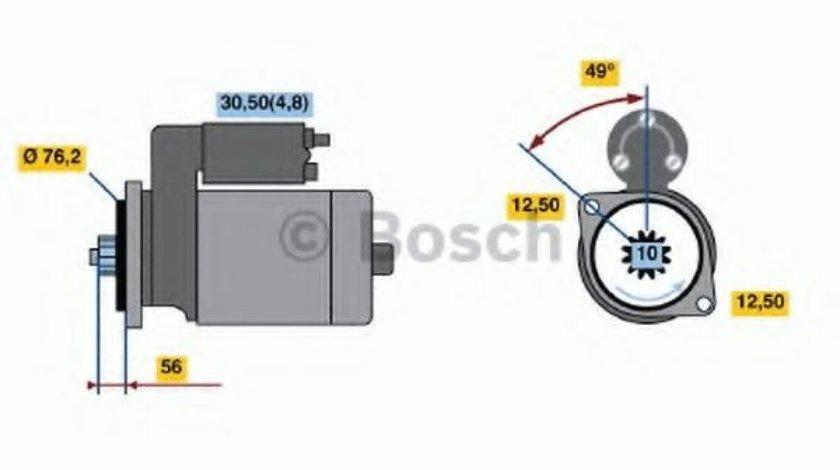 Starter SKODA OCTAVIA II Combi (1Z5) (2004 - 2013) BOSCH 0 986 020 220 produs NOU