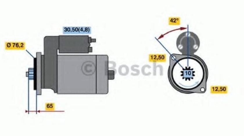 Starter VW GOLF V (1K1) (2003 - 2009) BOSCH 0 001 123 014 produs NOU